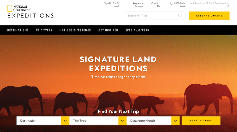 Nat Geo Expeditions call-to-action