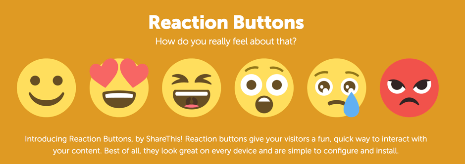 Reaction buttons