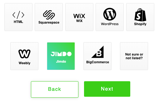 jimdo share buttons