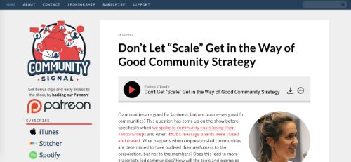 Best Social Media Podcasts: Community Signal