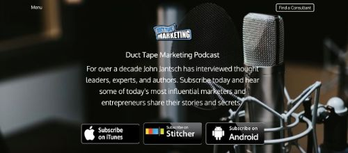 Best Social Media Podcasts: Duct Tape Marketing