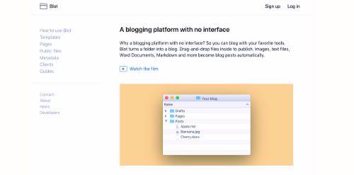 Best Blogging Platforms: Blot