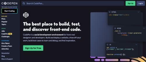 Best Blogging Platforms: CodePen