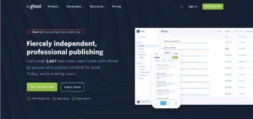 Best Blogging Platforms: Ghost