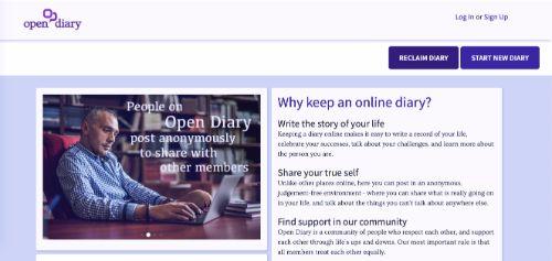 Best Blogging Platforms: Open Diary