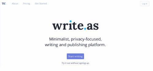 Best Blogging Platforms: Write.as
