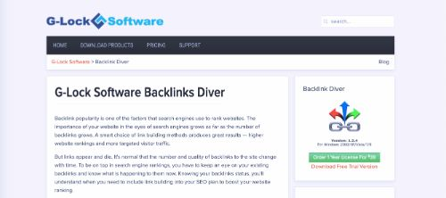 Best Backlink Trackers: G-Lock Backlink Diver