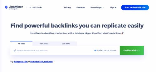 Best Backlink Trackers: Linkminer