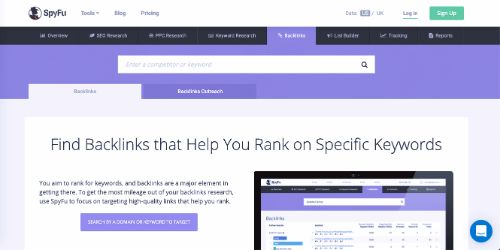 Best Backlink Trackers: SpyFu
