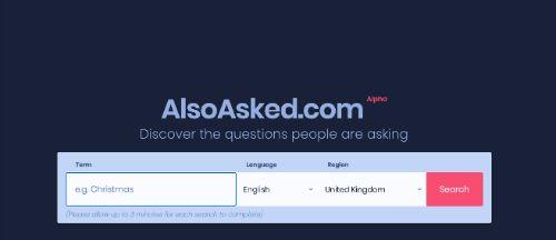 Best SEO Tools: AlsoAsked