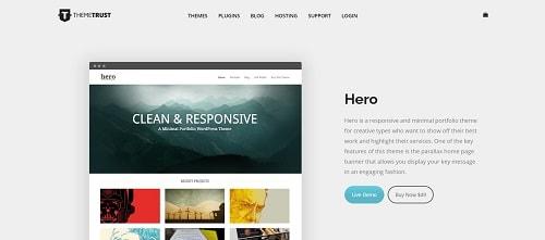 Best WordPress Theme for Portfolios: Hero