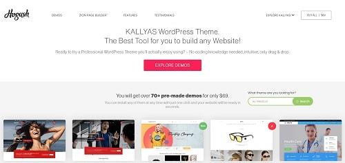 Best WordPress Theme for Business Sites: KALLYAS