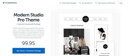 Best WordPress Theme for Blogging: Modern Studio Pro