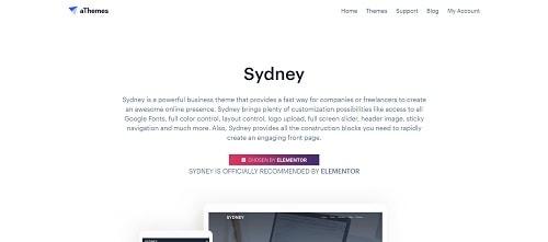 Best Free WordPress Theme: Sydney