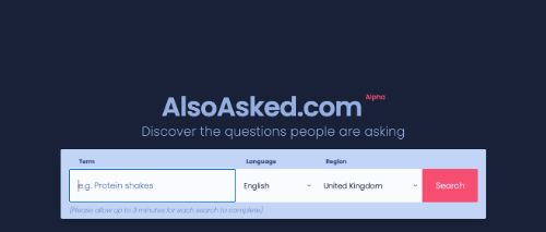 Best Free SEO Tools: AlsoAsked