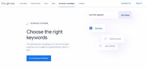 Best Free SEO Tools: Google Keyword Planner
