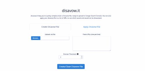 Best Free SEO Tools: Disavow.it