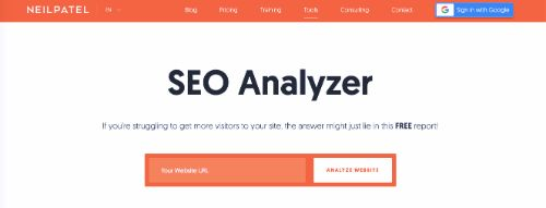 Best Free SEO Tools: Neil Patel SEO Analyzer
