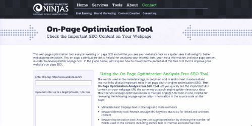 Best Free SEO Tools: On-page Optimization Tool
