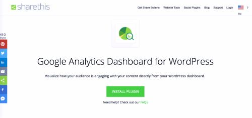 Best Free SEO Tools: Google Analytics Dashboard By ShareThis