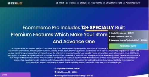 Best WordPress eCommerce Themes: eCommerce Lite