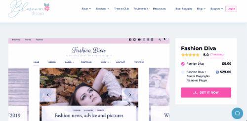 Best WordPress eCommerce Themes: Fashion Diva