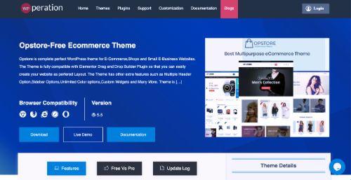 Best WordPress eCommerce Themes: Opstore