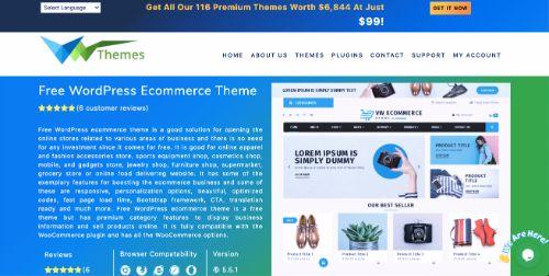 Best WordPress eCommerce Themes: VW ecommerce Store