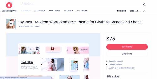 Best WordPress eCommerce Themes: Byanca