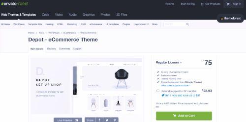 Best WordPress eCommerce Themes: Depot