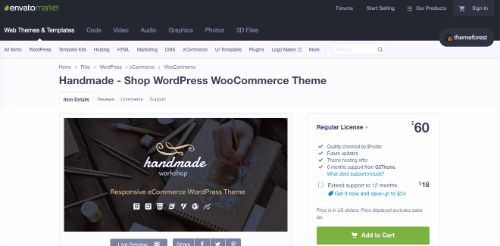 Best WordPress eCommerce Themes: Handmade