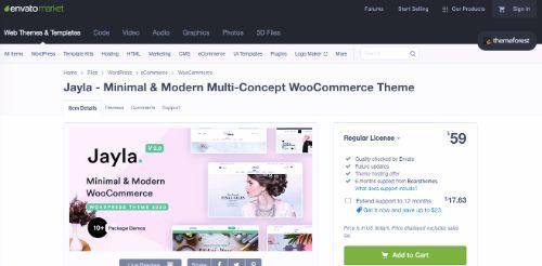 Best WordPress eCommerce Themes: Jayla
