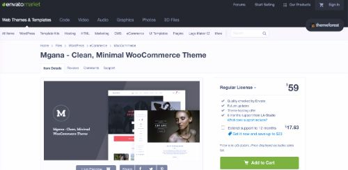 Best WordPress eCommerce Themes: Mgana