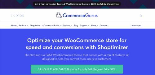 Best WordPress eCommerce Themes: Shoptimizer