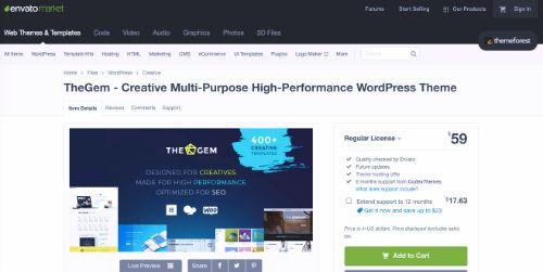 Best WordPress eCommerce Themes: TheGem