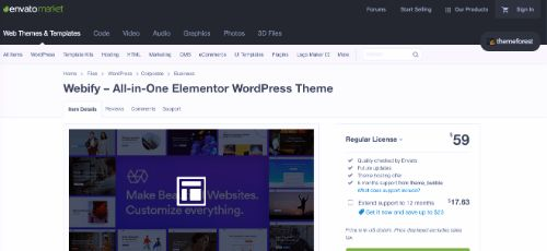 Best WordPress eCommerce Themes: Webify