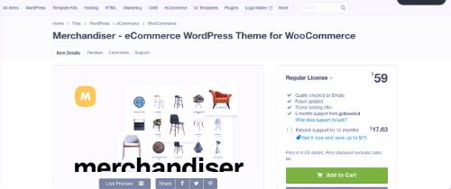 Best WordPress eCommerce Themes: Merchandiser