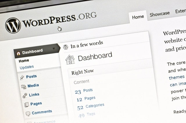 WordPress.org dashboard