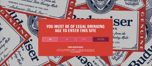 Use a Popup For Age Restricted Products (Budweiser)