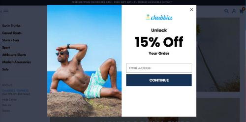 Present a Discount Using a Discreet Popup (Chubbies)