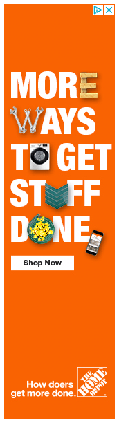 The Home Depot banner ad