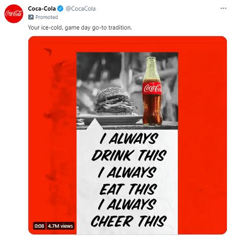 Coca-Cola ad copy example