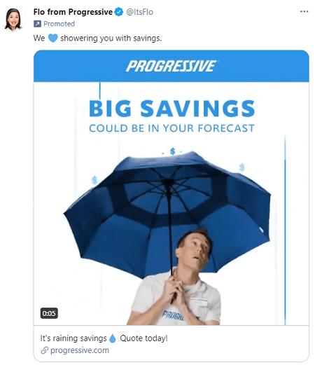 Progressive ad copy example