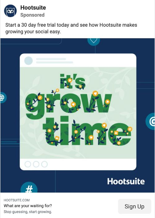 HootSuite call to action example