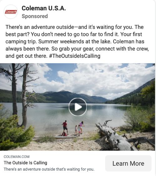 Coleman call to action example