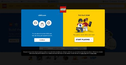 Lego call to action example