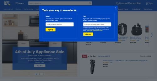 Best Buy call to action example